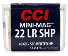 CCI Mini-Mag 22LR 40gr Segmented HP Ammo - 100 Rounds