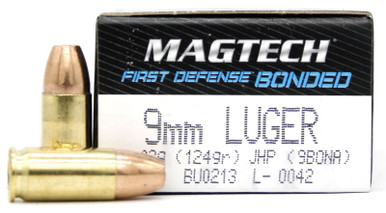 Magtech First Defense 9mm 124gr Bonded JHP Ammo - 50 Round