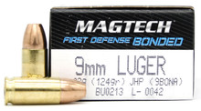 Magtech First Defense 9mm 124gr Bonded JHP Ammo - 50 Round