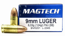 Magtech 9mm 124gr FMJ Ammo - 50 Rounds