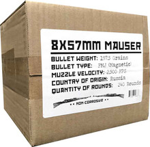 Bulk 8mm Mauser Ammo
