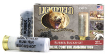 "Lightfield Wildlife Control 12ga 2.75"" Rubber Buckshot Ammo - 5 Rounds"