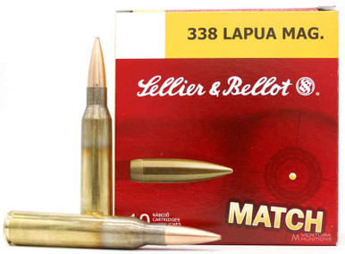 Sellier & Bellot 338 Lapua Mag 250gr BTHP Match Ammo - 10 Rounds