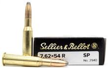 Sellier & Bellot 7.62x54R 180gr JSP Ammo - 20 Rounds