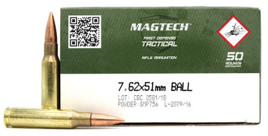 Magtech M80 7.62x51 Nato 147gr FMJ Ammo - 50 Rounds