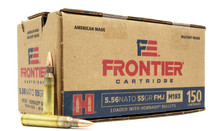 Hornady Frontier M193 5.56 NATO 55gr FMJ Ammo - 150 Rounds