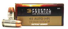 Federal Premium LE 45 ACP 230gr +P Bonded HP Ammo - 50 Rounds