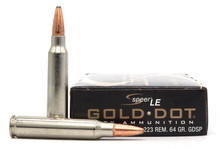 Speer Gold Dot 223 Rem 64gr GDSP Ammo - 20 Rounds