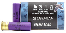"Federal Game Shok 16ga 2.75"" 1oz #7.5 Lead Shot Ammo - 25 Rounds"
