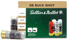 "Sellier & Bellot 12ga 2.75"" 00 Buck 9 Pellet Ammo - 10 Rounds"