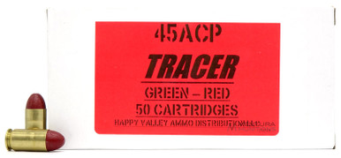HVA 45 ACP 230gr Green-Red Tracer Ammo - 50 Rounds