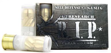 """G2 Research R.I.P. 12ga 2.75"""" 303gr Fragmenting Slug Ammo - 5 Rounds"""