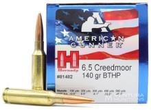 Hornady American Gunner 6.5 Creedmoor 140gr BTHP Ammo - 50 Rounds