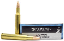Federal Power-Shok 270 Win 130gr SP Ammo - 20 Rounds