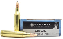 Federal Power-Shok 243 Win 100gr SP Ammo - 20 Rounds