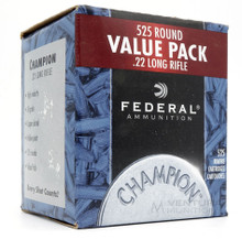 Federal Champion .22lr 36gr Copper Plated HP Ammo - 525 Rounds