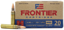 Hornady Frontier 5.56 NATO 55gr FMJ Ammo - 20 Rounds