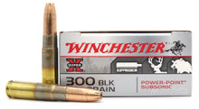 Winchester Super-X SubSonic 300 Blackout 200gr Power-Point Ammo - 20 Rounds