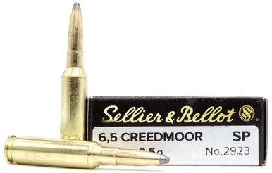 Sellier & Bellot 6.5 Creedmoor 131gr SP Ammo - 20 Rounds