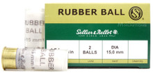 "Sellier & Bellot 12ga 2-5/8"" 15mm Double Rubber Ball Ammo - 25 Rounds"