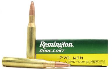 Remington Core-Lokt 270 Win 130gr PSP Ammo - 20 Rounds