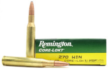 Remington Core-Lokt 270 Win 130gr PSP Ammo - 20 Rounds