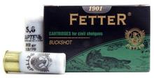 "1901 Fetter 12ga 2.75"" F-Buckshot Ammo - 15 Rounds"