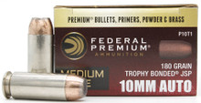 Federal Medium Game 10mm 180gr Bonded JSP Ammo - 20 Rounds