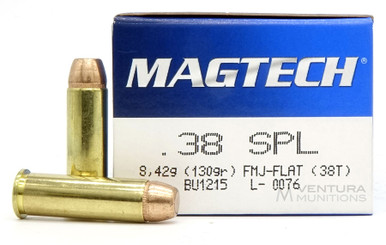 Magtech 38 Special 130gr FMJ Ammo - 50 Rounds
