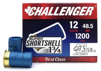 "Challenger Super Shortshell 12ga 1.75"" 5/8oz #7.5 Shot Ammo - 20 Rounds"