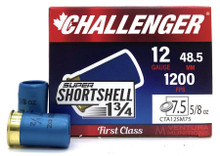 "Challenger Super Shortshell 12ga 1.75"" 5/8oz #7.5 Shot Ammo - 20 Rounds"