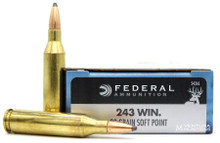 Federal Power-Shok 243 Win 80gr SP Ammo - 20 Rounds
