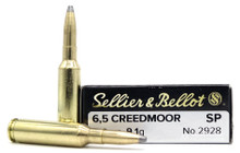 Sellier & Bellot 6.5 Creedmoor 140gr SP Ammo - 20 Rounds