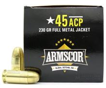 Armscor 45 ACP 230gr FMJ Ammo - 100 Rounds
