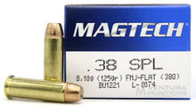 Magtech 38 Special 125gr FP FMJ Ammo - 50 Rounds