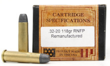Ventura Heritage 32-20 Winchester 118gr RNFP Reprocessed Ammo - 50 Rounds