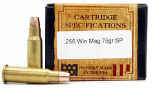 Ventura Heritage 256 Winchester Magnum 75gr SP New Ammo - 20 Rounds