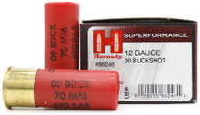 "Hornady Superformance 12ga 2.75"" 00 Buck #8 Pellet Ammo - 10 Rounds"