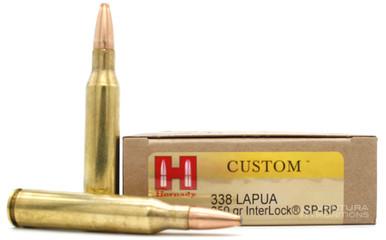 Hornady 338 Lapua Mag 250gr Interlock SP-RP Ammo - 20 Rounds