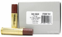 Underwood 500 S&W Mag 700gr Lead FN Ammo - 20 Rounds