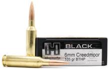 Hornady Black 6mm Creedmoor 105gr BTHP Ammo - 20 Rounds
