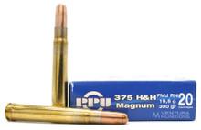 Prvi Partizan 375 H&H Mag 300gr FMJ-RN Ammo - 10 Rounds