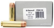 Underwood 50 Beowulf 300gr Bonded JHP Ammo - 20 Rounds