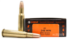 HSM 348 Win 200gr FP Ammo - 20 Rounds