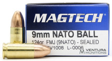 Magtech 9mm 124gr NATO FMJ Ammo - 50 Rounds