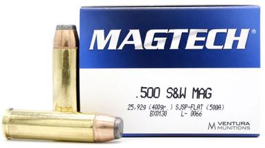 Magtech 500 S&W 400gr SJSP Ammo - 20 Rounds