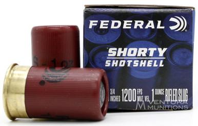 """Federal Shorty 12ga 1.75"""" 1oz Slug Ammo - 10 Rounds"""