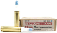 Simunition FX 5.56mm Non-Lethal Marking Ammo - 20 Rounds (Blue)