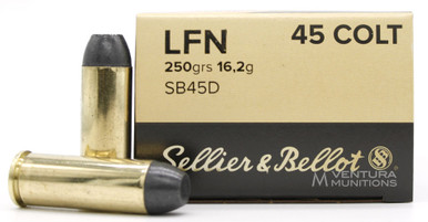 Sellier & Bellot 45 Colt 250gr LFN Ammo - 50 Rounds