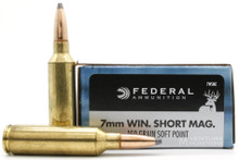Federal Power-Shok 7mm WSM 150gr SP Ammo - 20 Rounds